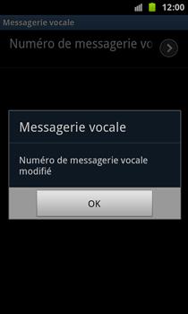 Samsung N7000 Galaxy Note - Messagerie vocale - Configuration manuelle - Étape 8