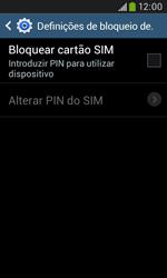 Samsung Galaxy Trend Plus - Segurança - Como ativar o código PIN do cartão de telemóvel -  7