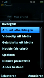 Sony Ericsson U8i Vivaz Pro - E-mail - hoe te versturen - Stap 10