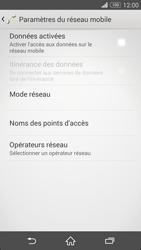 Sony Xpéria Z3 - Internet et connexion - Désactiver la connexion Internet - Étape 7