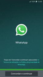 Samsung Galaxy S6 Android M - Aplicações - Como configurar o WhatsApp -  6