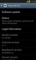 Samsung I8190 Galaxy S III Mini - Network - Installing software updates - Step 10