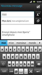 Sony ST25i Xperia U - E-mail - envoyer un e-mail - Étape 5