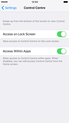 Apple iPhone 6 iOS 10 - iOS features - Control Centre - Step 5