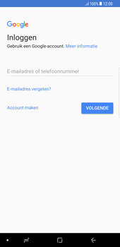 Samsung Galaxy S8+ - Android Oreo (SM-G955F) - Applicaties - Account aanmaken - Stap 4