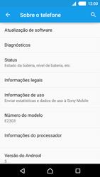 Sony Xperia M4 Aqua - Primeiros passos - Como encontrar o número de IMEI do seu aparelho - Etapa 5