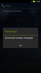 Acer Liquid E3 - Voicemail - Manual configuration - Step 10