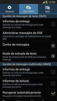 Samsung Galaxy Note 3 - Mensajería - Configurar el equipo para mensajes de texto - Paso 9