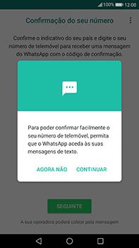 Huawei Mate 9 - Aplicações - Como configurar o WhatsApp -  11