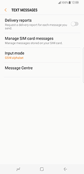 Samsung Galaxy S8 Plus - SMS - Manual configuration - Step 10