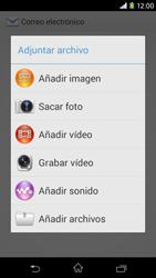 Sony Xperia M2 - E-mail - Escribir y enviar un correo electrónico - Paso 11