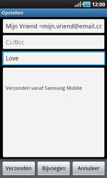 Samsung I9000 Galaxy S - E-mail - E-mails verzenden - Stap 7