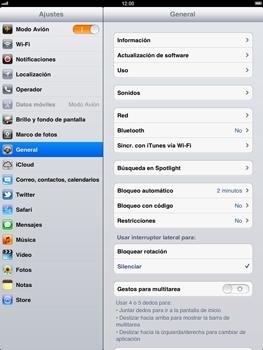 Apple iPad 2 - Funciones básicas - Activar o desactivar el modo avión - Paso 4