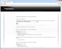 BlackBerry 9800 Torch - Software - installeer firmware update - Stap 2