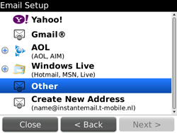 BlackBerry 9700 Bold - E-mail - Manual configuration - Step 8