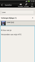 HTC S728e One X Plus - E-mail - E-mail versturen - Stap 14