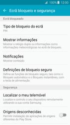 Samsung Galaxy A3 A310F 2016 - Segurança - Como ativar o código de bloqueio do ecrã -  12