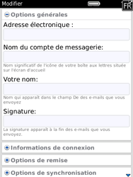 BlackBerry 9800 Torch - E-mail - Configuration manuelle - Étape 13