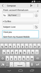 Huawei Ascend P7 - Email - Sending an email message - Step 10