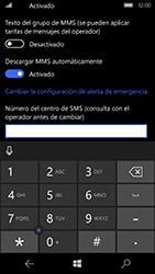 Microsoft Lumia 950 - Mensajería - Configurar el equipo para mensajes de texto - Paso 7