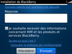 BlackBerry 9900 Bold Touch - BlackBerry activation - BlackBerry ID activation - Étape 11