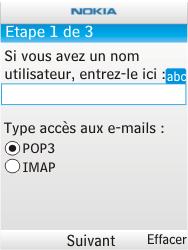 Nokia X2-00 - E-mail - Configuration manuelle - Étape 8