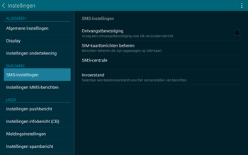Samsung Galaxy Tab S 10.5 4G (SM-T805) - SMS - Handmatig instellen - Stap 7