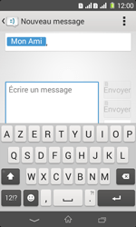 Sony Xpéria E1 Dual - Contact, Appels, SMS/MMS - Envoyer un SMS - Étape 7