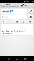 Sony D2203 Xperia E3 - Email - Sending an email message - Step 8