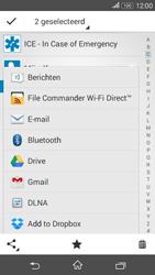 Sony E2003 Xperia E4G - Contactgegevens overzetten - delen via Bluetooth - Stap 9