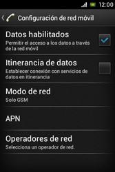 Sony Xperia E - Red - Seleccionar el tipo de red - Paso 8