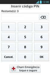 LG E612 Optimus L5 - Funções básicas - Como reiniciar o aparelho - Etapa 6