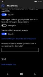 Microsoft Lumia 650 - SMS - Como configurar o centro de mensagens -  6