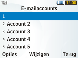 Samsung S3350 Chat 335 - E-mail - handmatig instellen - Stap 14