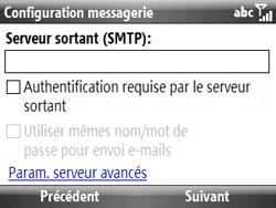 HTC S521 Snap - E-mail - Configuration manuelle - Étape 11