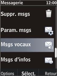 Nokia C2-05 - Messagerie vocale - Configuration manuelle - Étape 5