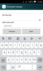 Huawei Y3 - E-mail - Manual configuration IMAP without SMTP verification - Step 13