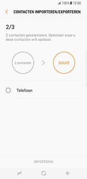 Samsung Galaxy S8 (G950) - Contacten en data - Contacten kopiëren van SIM naar toestel - Stap 12