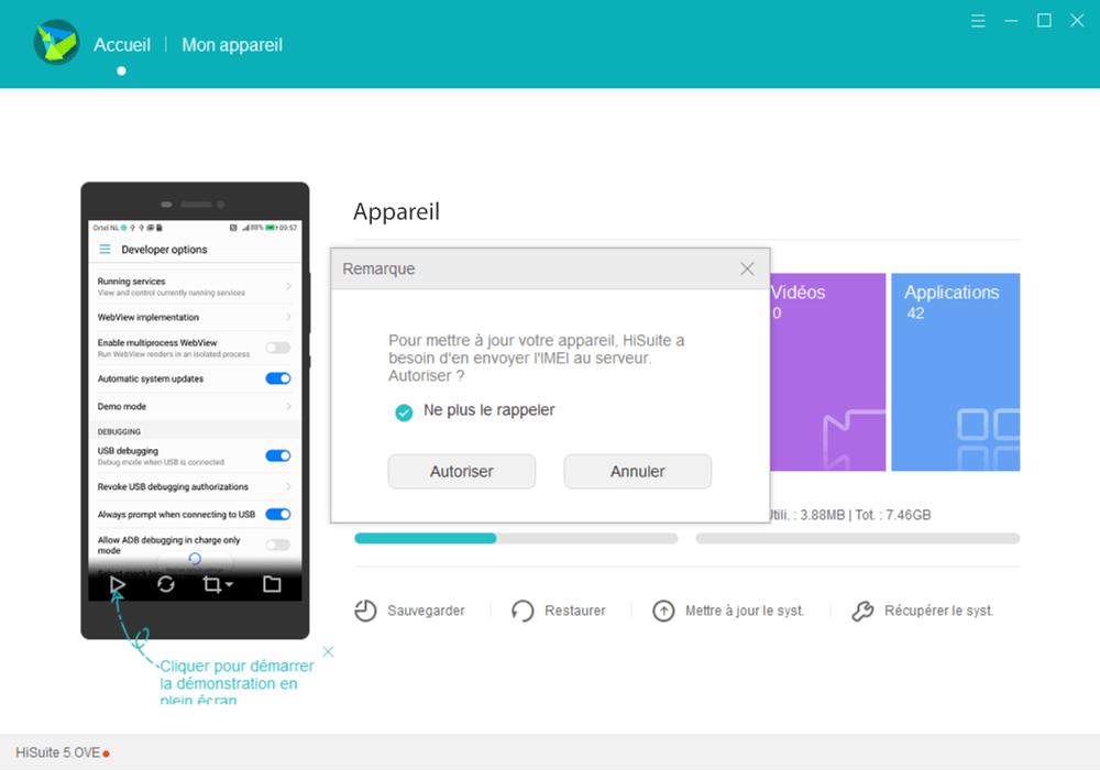 Huawei P20 lite - Aller plus loin - Gérer vos données avec un ordinateur - Étape 5