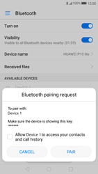 Huawei P10 Lite - Bluetooth - Pair with another device - Step 6