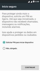 """Alcatel Pixi 4 (5"""") - Segurança - Como ativar o código de bloqueio do ecrã -  7"""
