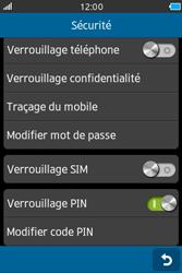 Samsung Wave M - Sécuriser votre mobile - Personnaliser le code PIN de votre carte SIM - Étape 10