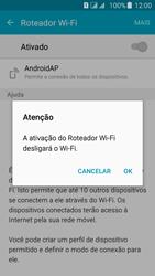 Samsung Galaxy J5 - Wi-Fi - Como usar seu aparelho como um roteador de rede wi-fi - Etapa 10