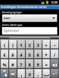 Samsung S5360 Galaxy Y - E-mail - e-mail instellen: IMAP (aanbevolen) - Stap 10