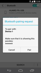 Huawei Ascend P6 LTE - Bluetooth - Pair with another device - Step 7