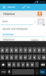 Bouygues Telecom Bs 402 - Contact, Appels, SMS/MMS - Ajouter un contact - Étape 6
