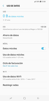 Samsung Galaxy S8 Plus - Internet - Ver uso de datos - Paso 6