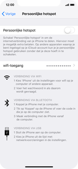 Apple iphone-xs-model-A1920 - WiFi - Mobiele hotspot instellen - Stap 4