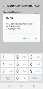 Samsung Galaxy S8 - Android Oreo (SM-G950F) - Beveiliging en ouderlijk toezicht - Hoe wijzig ik mijn SIM PIN-code - Stap 9