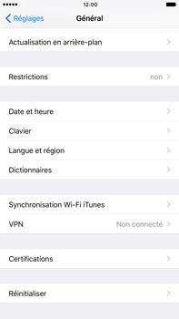 Apple Apple iPhone 6 Plus iOS 10 - Appareil - Réinitialisation de la configuration d